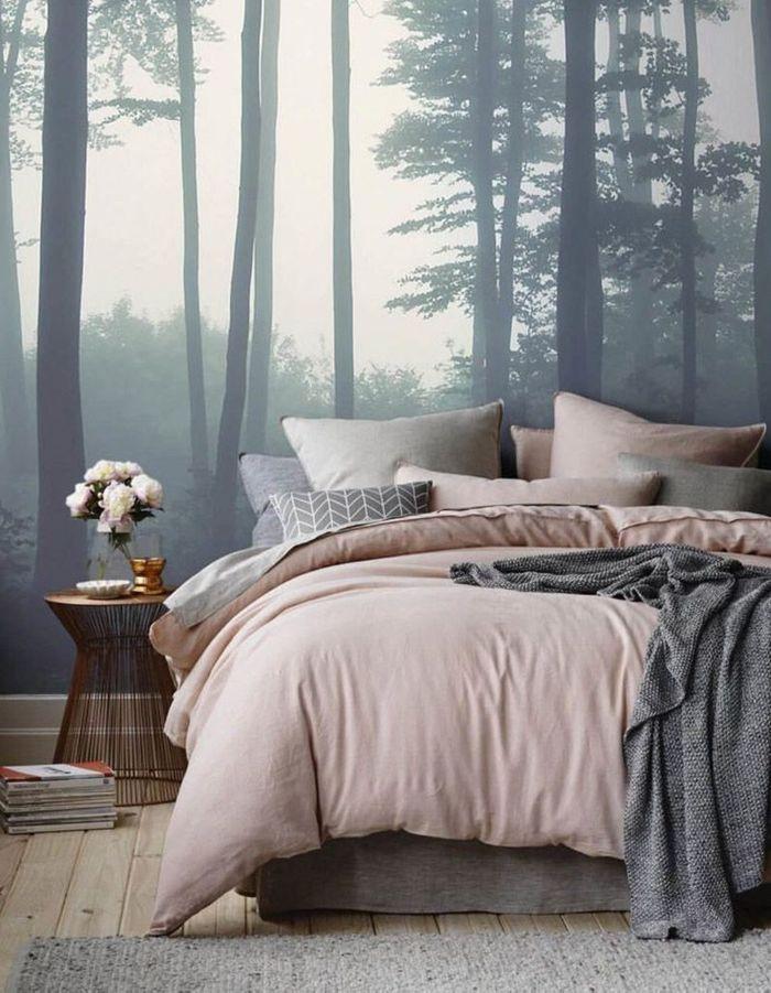 Une tête de lit version papier peint panoramique
