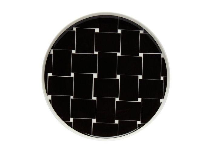 Vaisselle design : une assiette à motifs géométriques