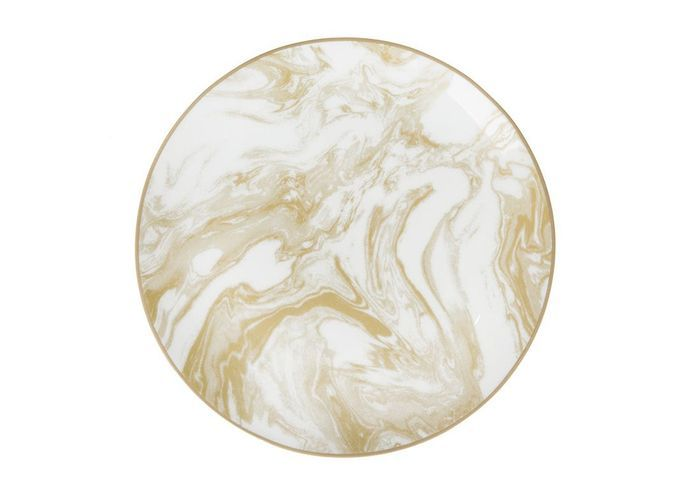 Vaisselle design : une assiette effet marbre