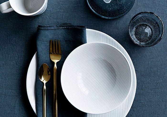 Vaisselle design : une coupelle à rayures