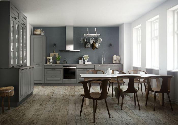 Une cuisine campagne et ses assises contemporaines