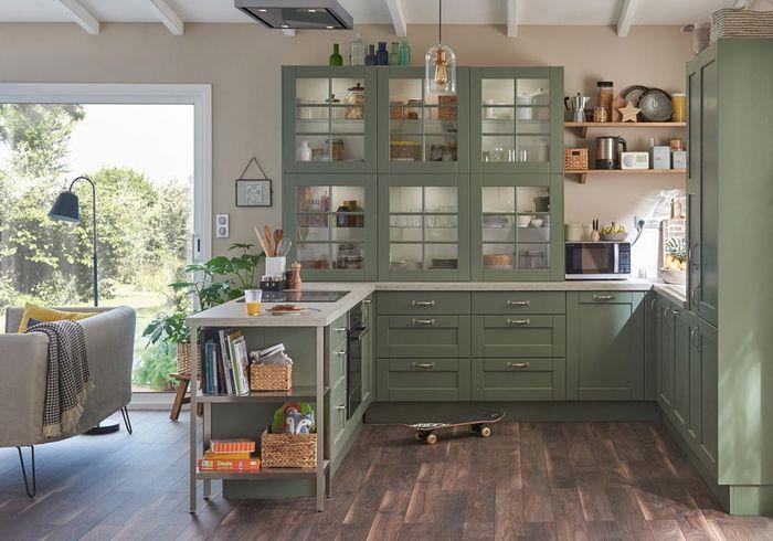 Une cuisine campagne ouverte sur le salon