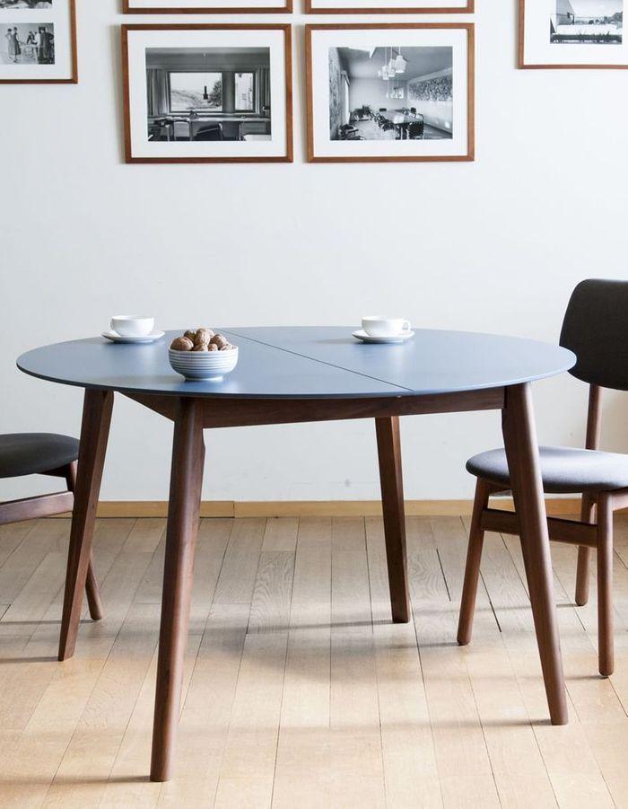 Grande table à manger ronde à rallonges