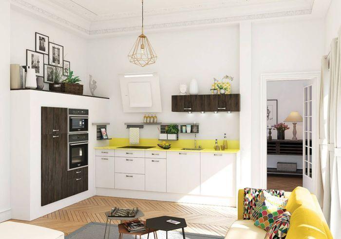 Une cuisine ouverte intégrée au salon