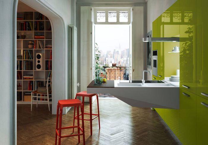 Une cuisine ouverte qui dynamise la pièce