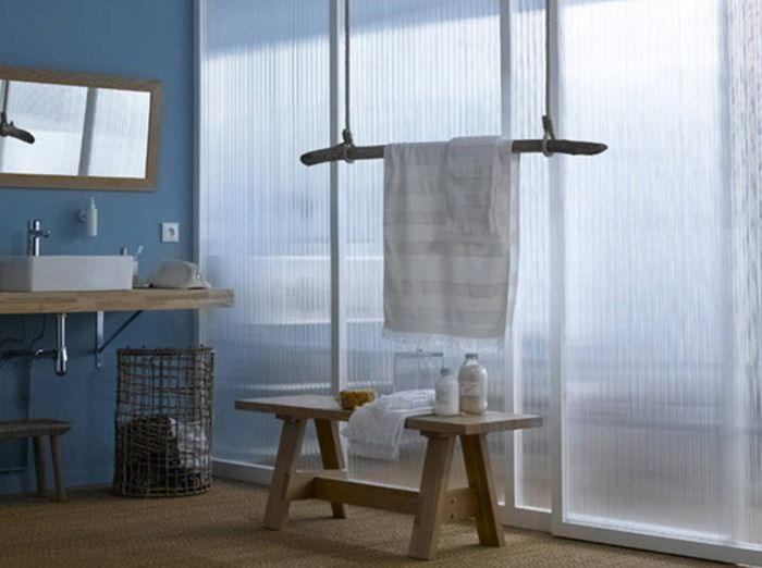 Salle de bains design et récup