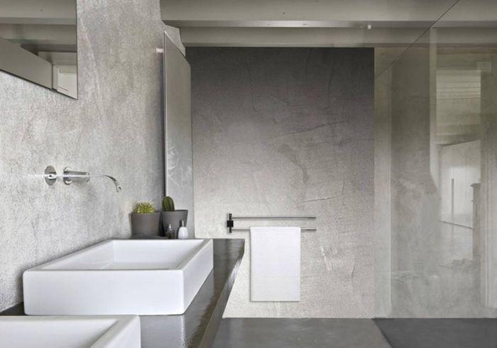 Salle de bains design grise