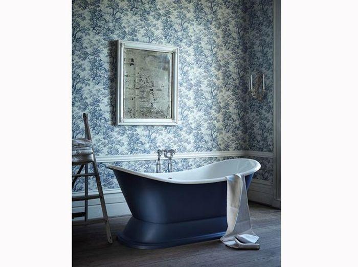 les codes de la salle de bains r tro chic elle d coration. Black Bedroom Furniture Sets. Home Design Ideas