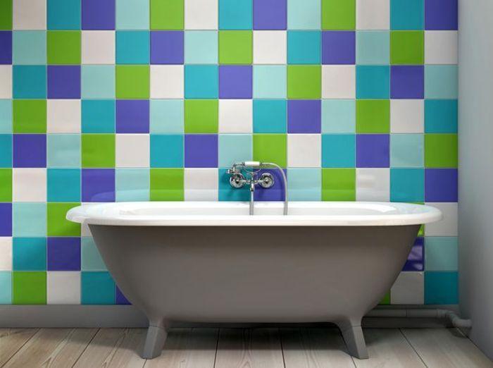 Carrelage colore salle de bain like a color