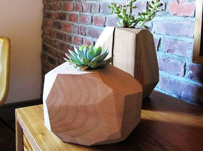 Etsy planteur en bois