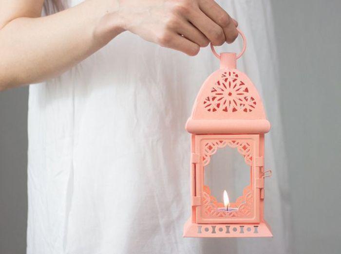 Esty lanterne rose pastel