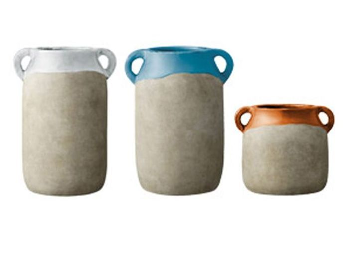 Bloomingville pot ceramique amphore