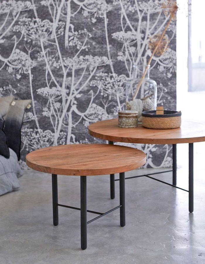 Table basse en bois façon gigognes