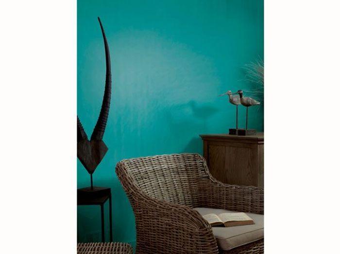 Une peinture bleu canard pour mon salon