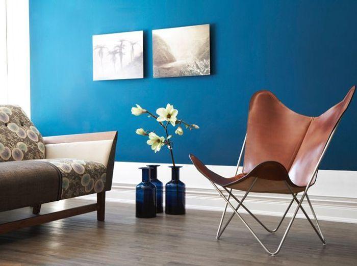 Une peinture bleu exotique pour mon salon