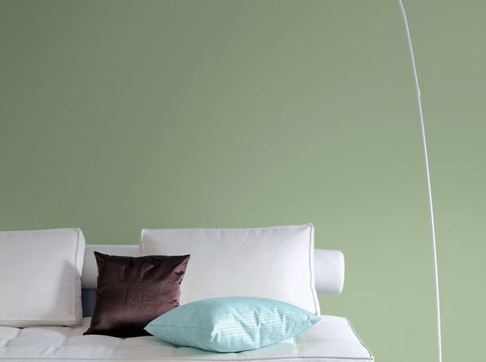Une peinture thé vert dans mon salon