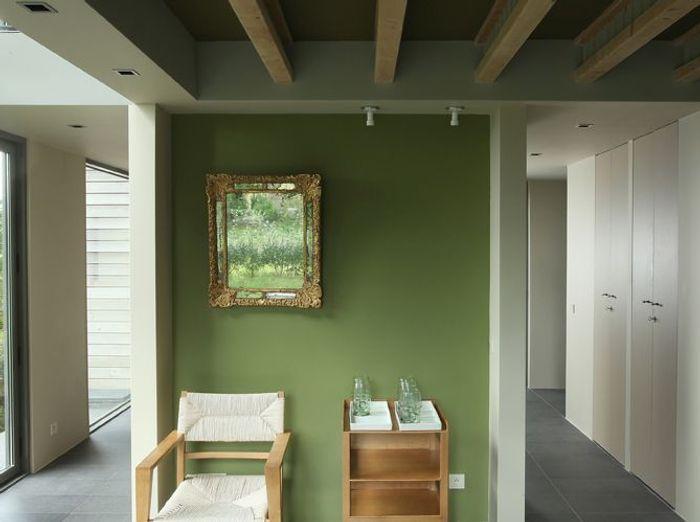 Une peinture vert forêt pour mon salon