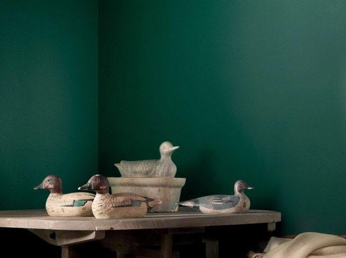 Une peinture vert profond pour mon salon