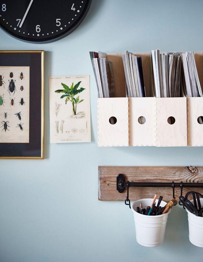 Des porte-documents Ikea détournés en range-magazines