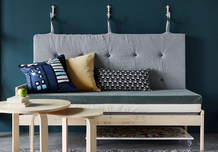 Deux matelas Ikea détournés en canapé