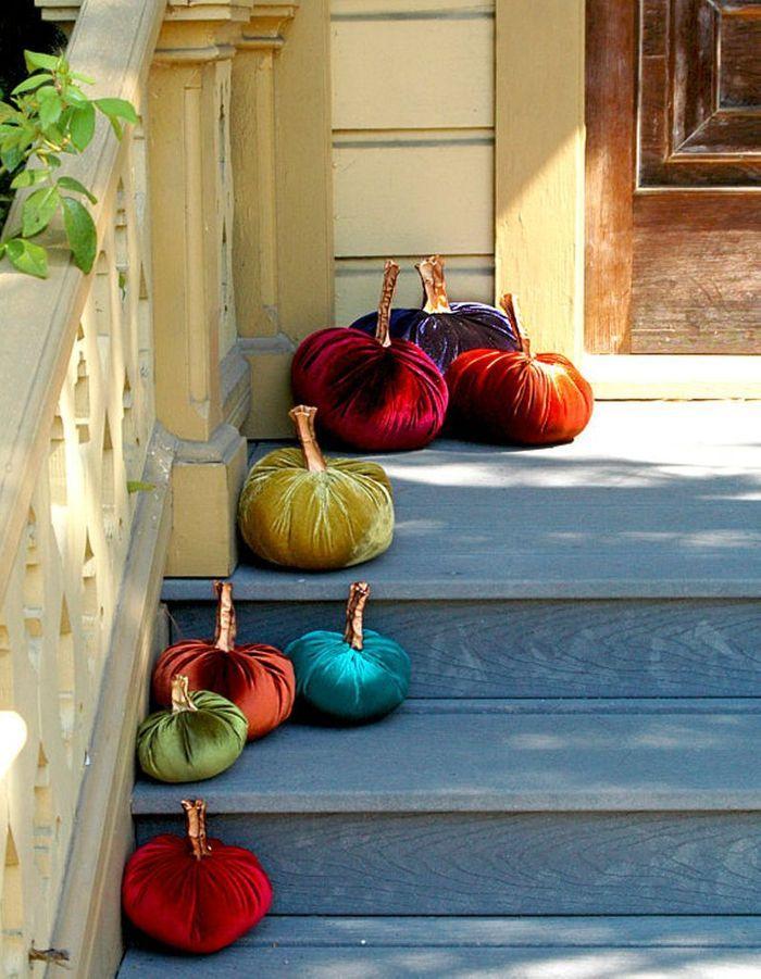 Décoration Halloween : la citrouille en velours