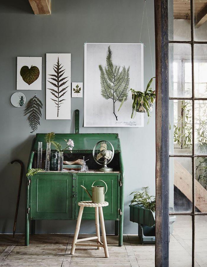 Une décoration végétale via des affiches