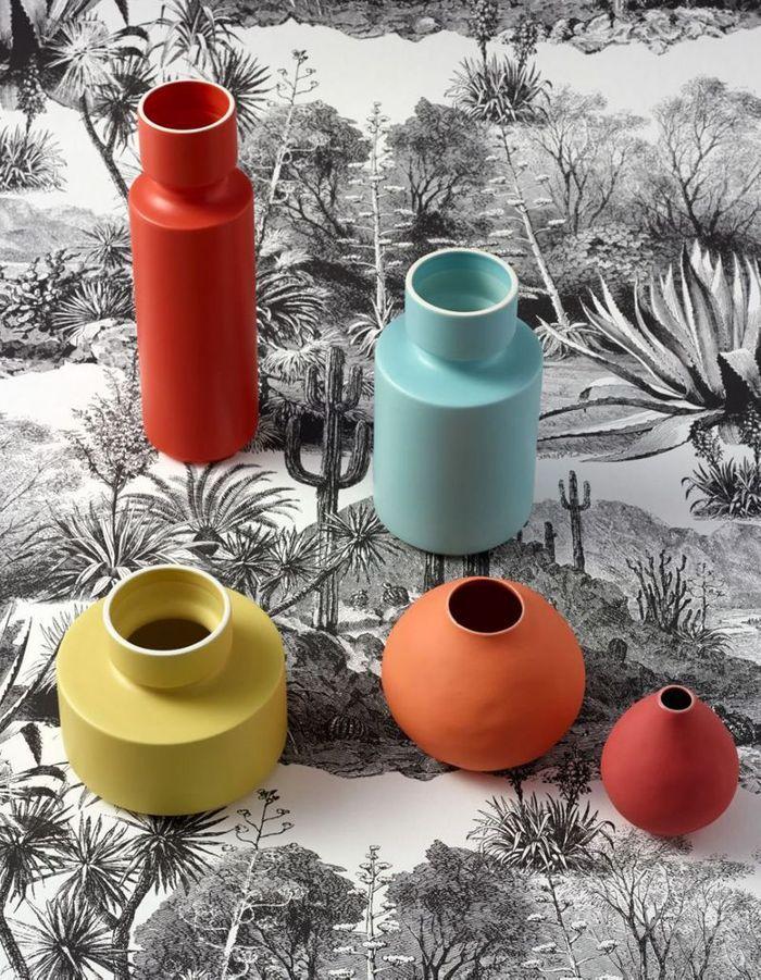 Vase coloré en céramique