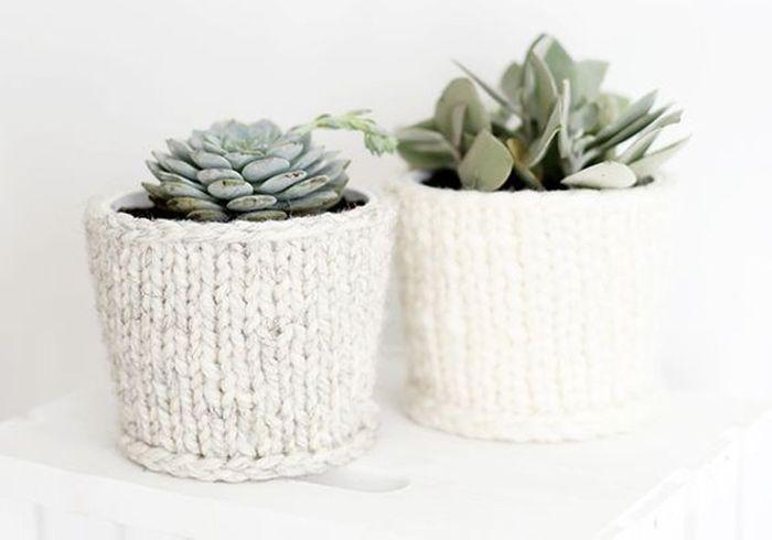 Tricoter des cache-pots