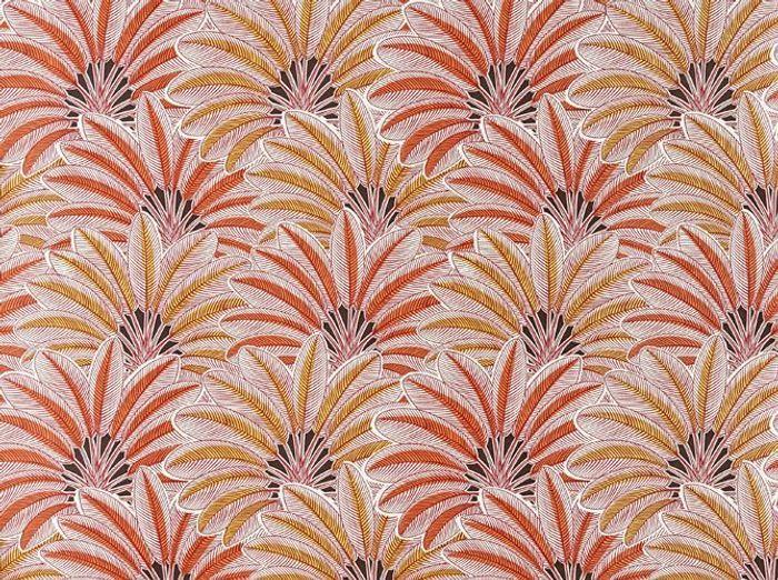 Un papier peint rouge et orange Art Déco