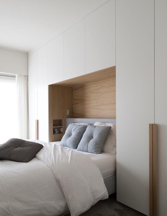 Installer autour de la tête de lit pour faire comme à l'hôtel