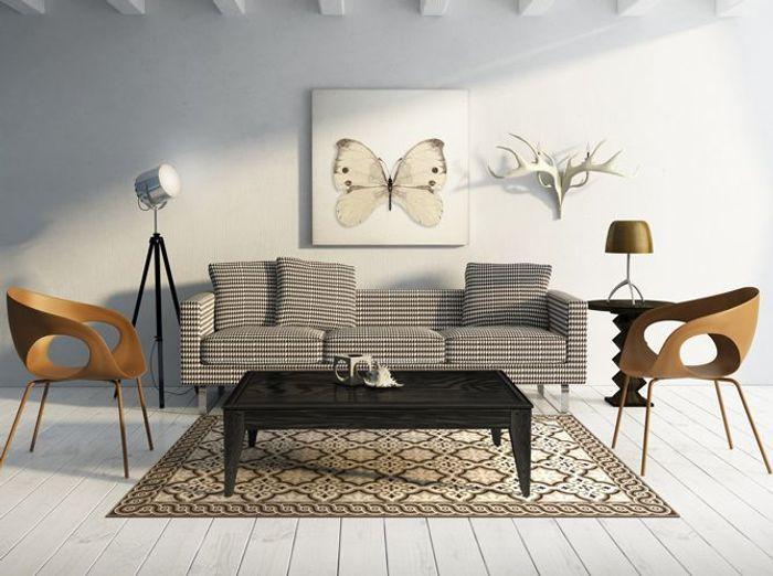 Un tapis effet trompe-l'œil pour isoler un espace