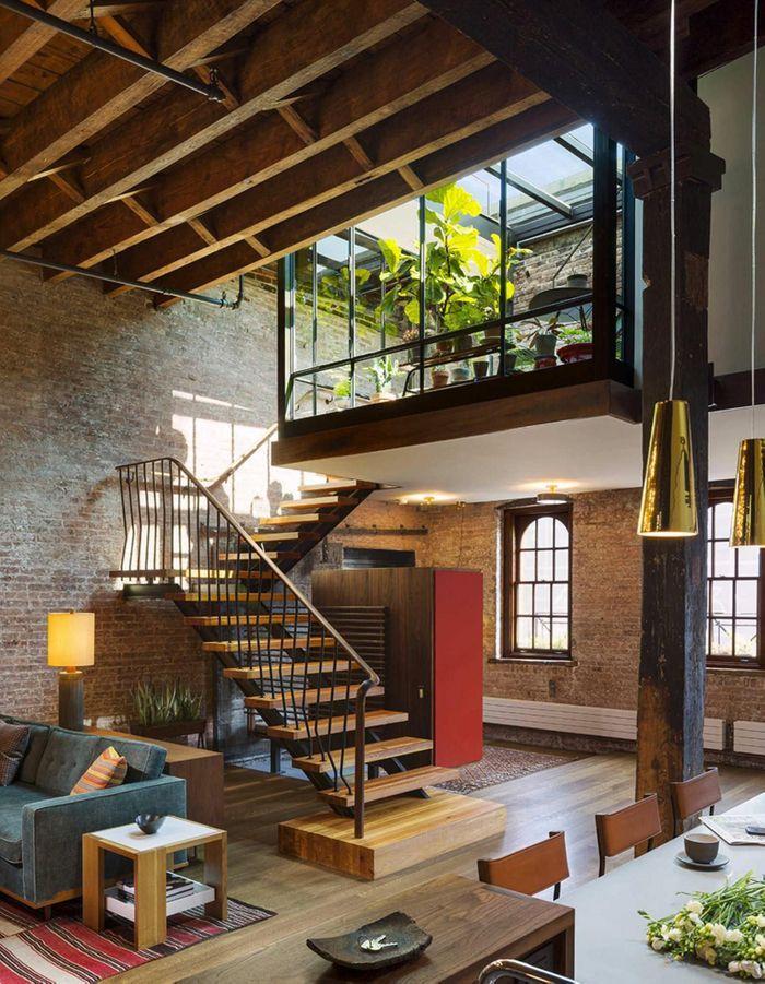 Une maison d'architecte avec jardin d'hiver à New York