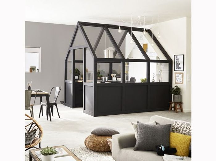Un loft design avec cloison ludique