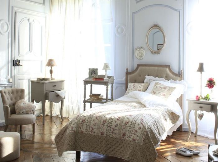 chambre style gustavien blanc