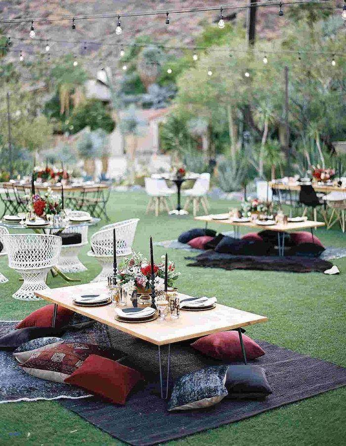 Réserver une petite surprise aux enfants via une table de mariage à l'esprit nomade