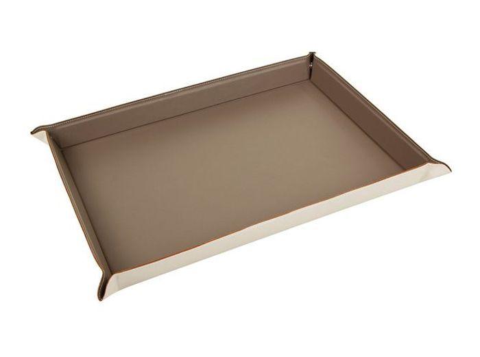 Un plateau en cuir très chic