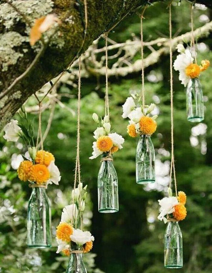Transformez vos bouteilles en verre en soliflore
