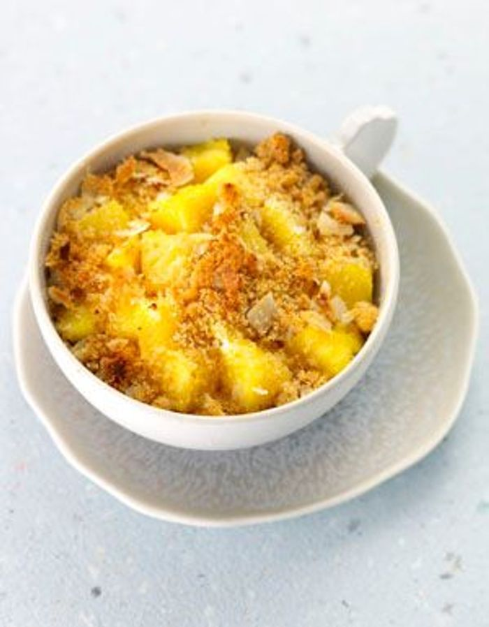 Crumble ananas-coco