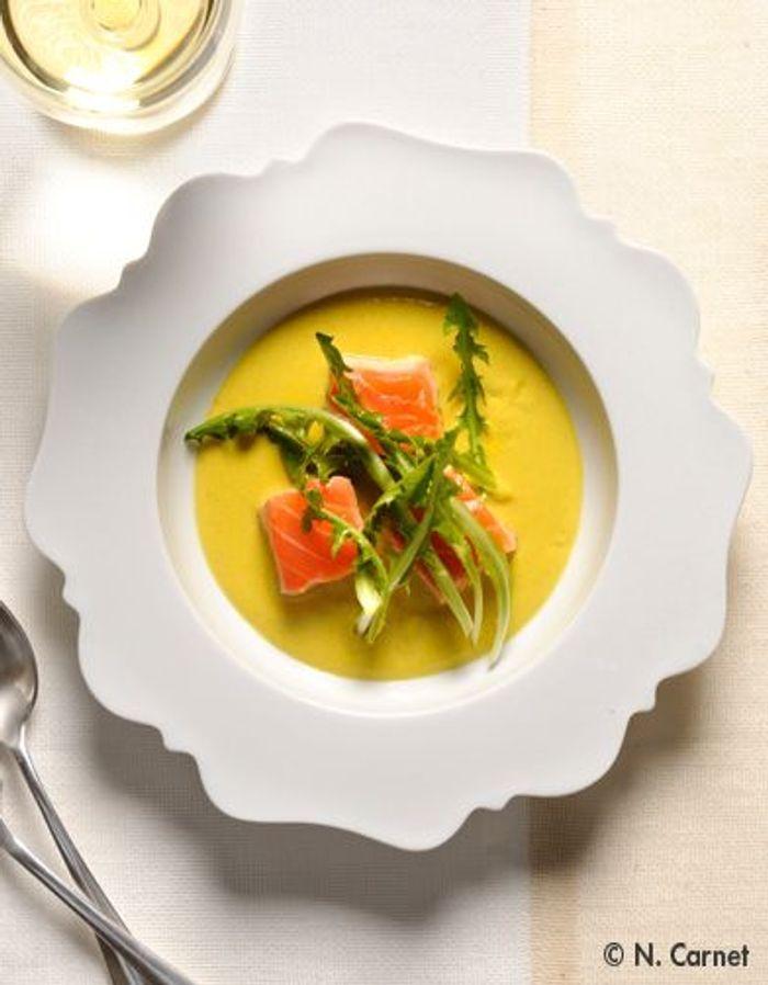 Pissenlit de saumon, parfum de curry