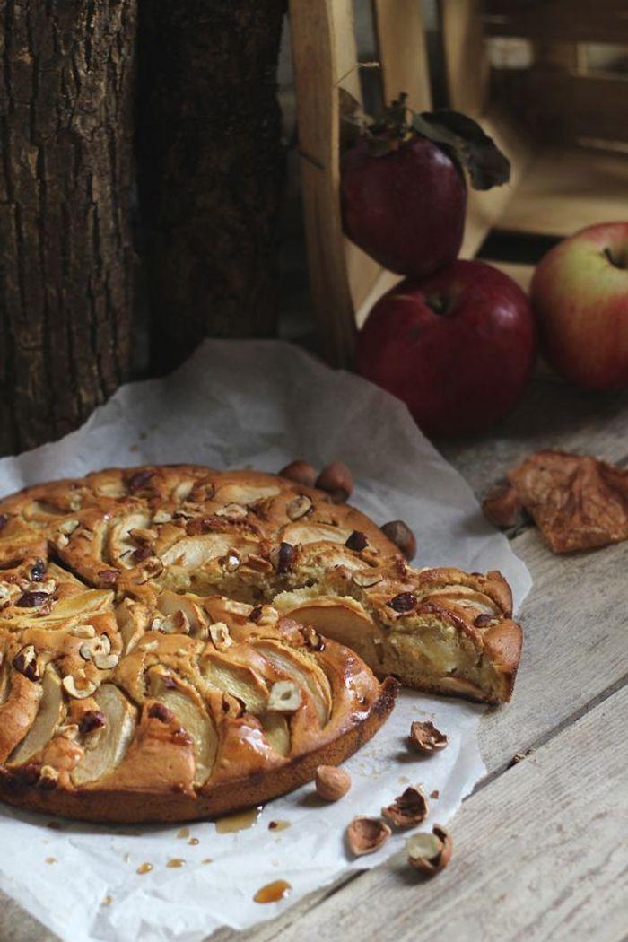 Gâteau pommes et sirop d'érable