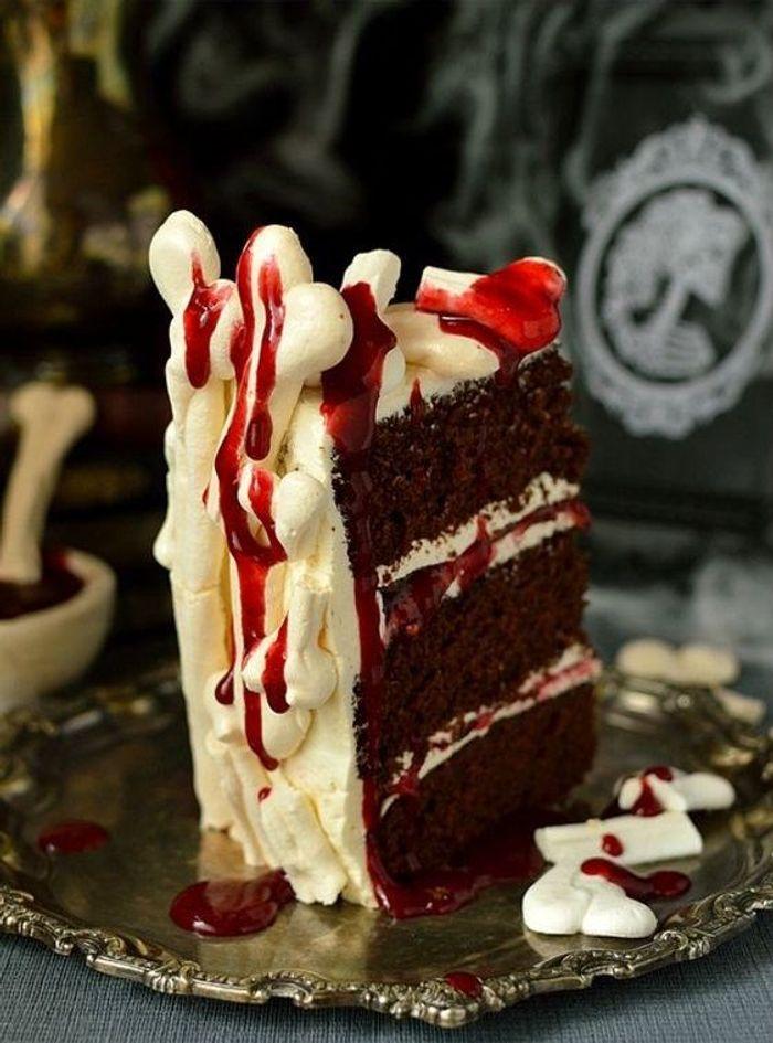 Gâteau Halloween os