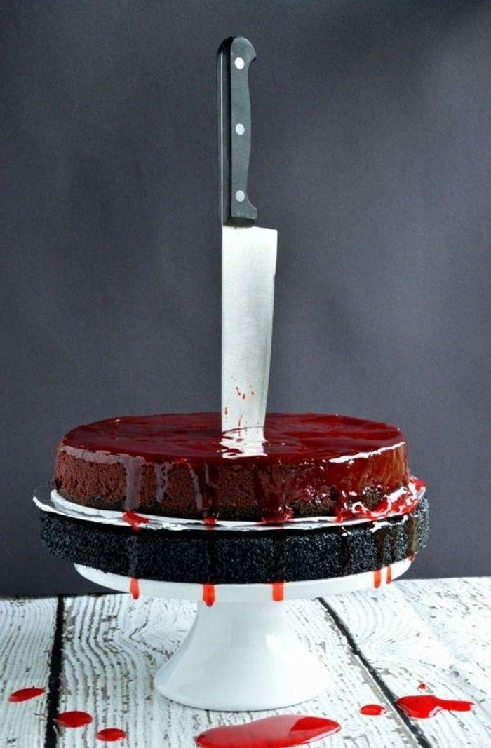 Gâteau Halloween sanglant
