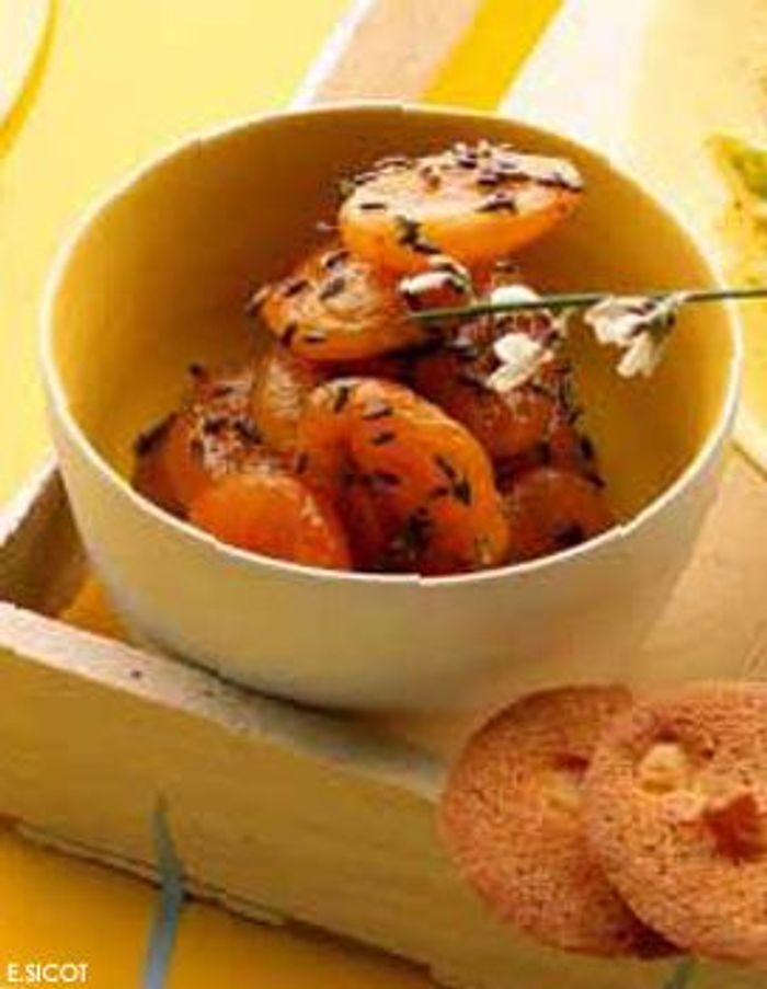 Abricots secs moelleux rôtis à la lavande