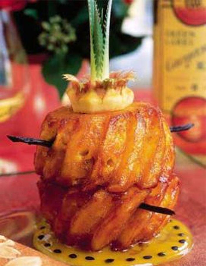 Ananas victoria roti à la vanille