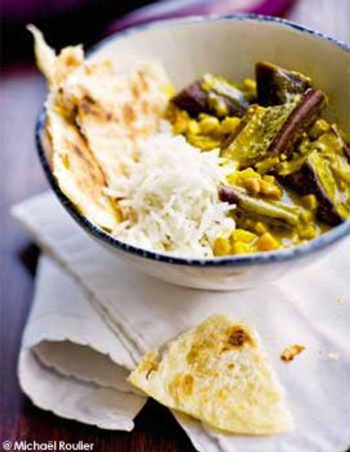 Baigan bharta (aubergines au curry)