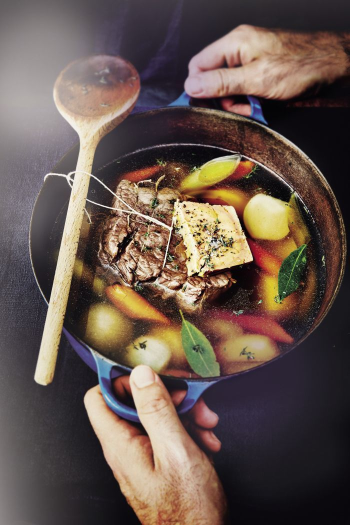 Bœuf à la ficelle au foie gras
