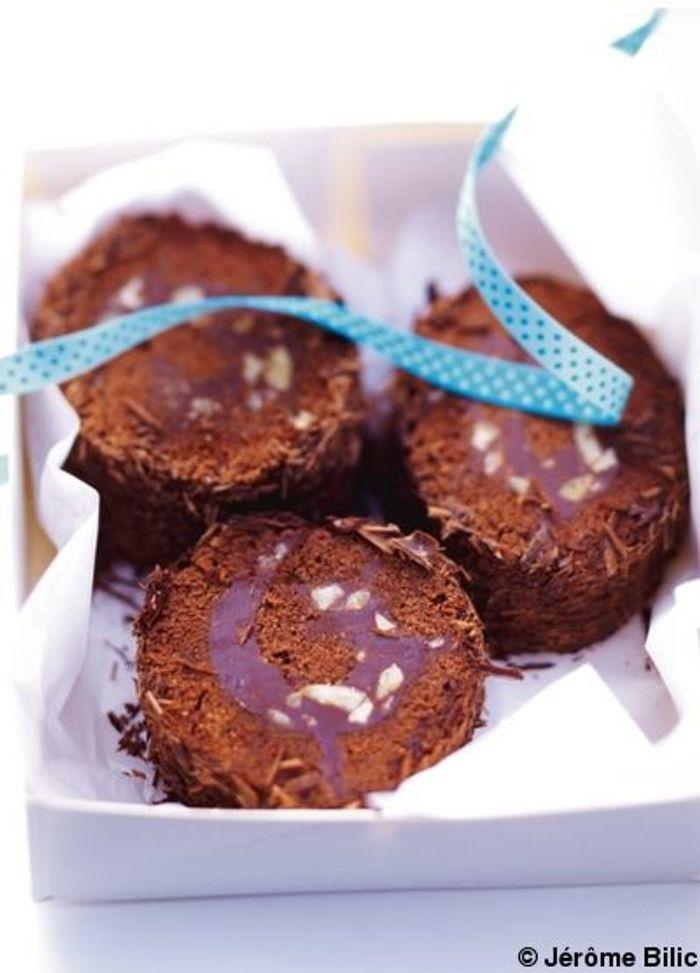 Bûche marron-chocolat