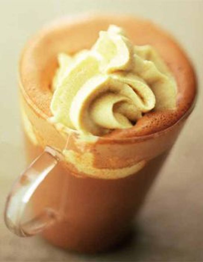 Chocolat chaud et chantilly au caramel