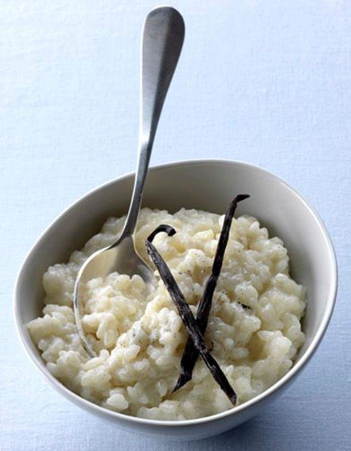 Classique : riz au lait vanillé