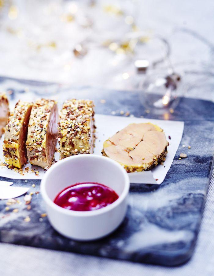 Foie gras vapeur aux graines